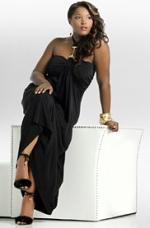 Black Halter Link Dress, AshleyStewart.com