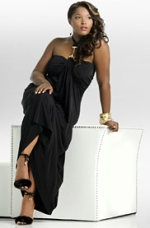 Black Halter Link Dress, AshleyStewart.com