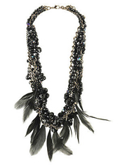 Chunky Feather Trim Necklace, $10.80, forever21.com