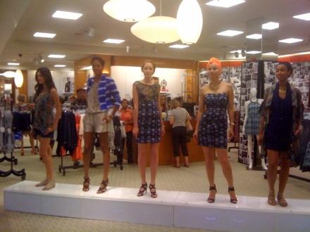 Models show off the RACHEL Rachel Roy Spring 2010 collection