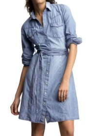 Chambray Western Shirtdress, $44.99, gap.com