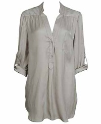 Sateen Tunic in Taupe, $19.80, forever21.com
