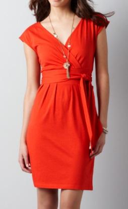 Crossover Belted Dress, $49.50, anntaylorloft.com