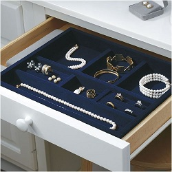 Velvet In-Drawer Jewelry Tray by October Company, $37.99, amazon.com