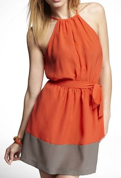 Keyhole Halter Dress, $55.93 on sale, express.com