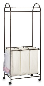 Antique Bronze Rolling Laundry Center, $59.99, bedbathbeyond.com