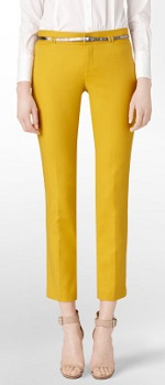 Body Fit Belted High Density Skinny Ankle Pants, $59.99 on sale, calvinklein.com