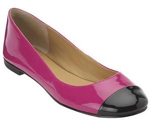 'Outburst' Cap-Toe Ballet Flats, $59 on sale, ninewest.com