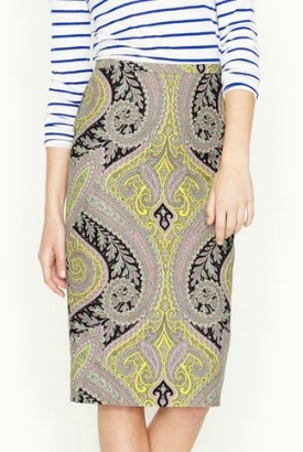 Long No. 2 Pencil Skirt in Sovereign Paisley, $99.99, jcrew.com