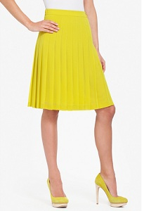 Bonita Pleated Chiffon Skirt, $89 (marked down from $178), bcbg.com