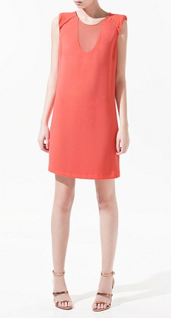 Sheer Dress With Contrast, $89.90, zara.com