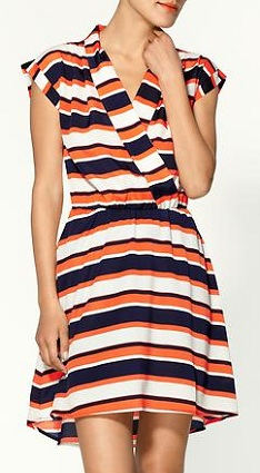 Collective Concepts Striped  V-Neck Dress, $36.99, piperlime.com