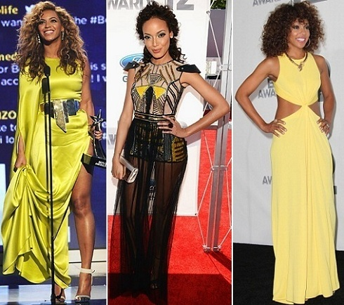BET Awards: Beyonce Knowles, Selita Knowles, Wendy Racquel Robinson