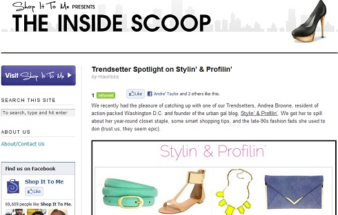 Stylin' & Profilin' featured on ShopItToMe.com.