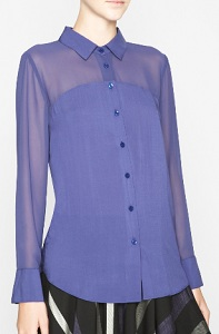 BCBGeneration Contrast-Yoke Shirt, $61.60 (marked down from $88), bcbg.com