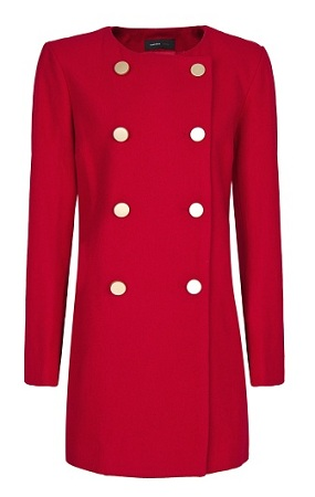 Double-Breasted Wool Coat, $59.99, mango.com