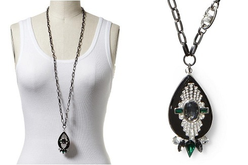 Sabine Art Deco Pendant Necklace, $25.50, piperlime.com