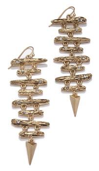 Texture Linear Earrings, $19, rachelroy.com
