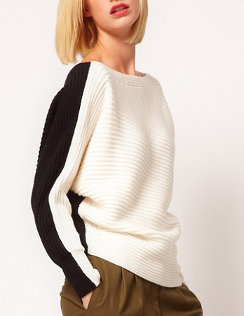 ASOS Color-Block Sweater,$46.61, asos.com