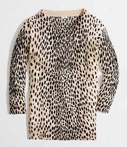 Factory Charley Sweater in Leopard, $47.50 (marked down from $79.50), jcrew.com
