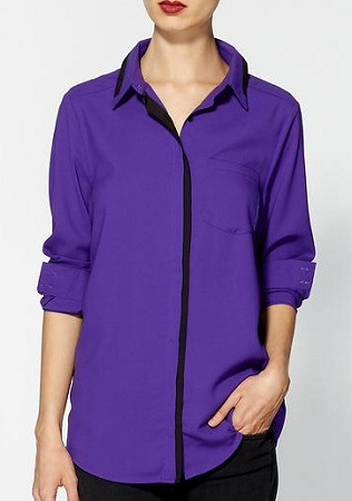 Contrast Trim Button-Down by Rhyme Los Angeles, $34.99, piperlime.com