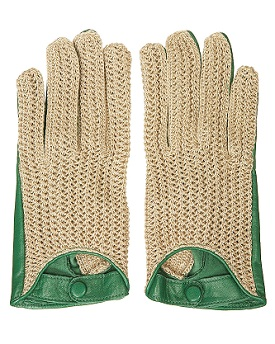 Leather Woven Gloves, $24, topshop.com