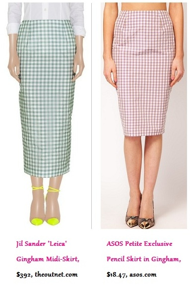 Luxe Life vs. Real Life: Gingham Pencil Skirt