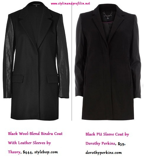 Luxe Life vs. Real Life: Leather Sleeve Wool Coat