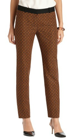 Zoe Ankle Pants in Tile Print, $54.99 ($22 with 60% off sale), loft.com: