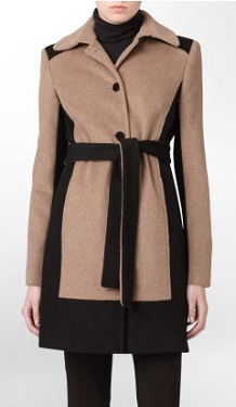Belted Color-block Coat, $79.99 (marked down from $360), calvinklein.com