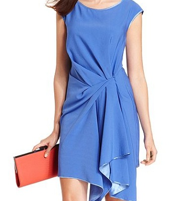RACHEL Rachel Roy Short-Sleeve Scoop Neck Ruffle Dress, $64.99, macys.com