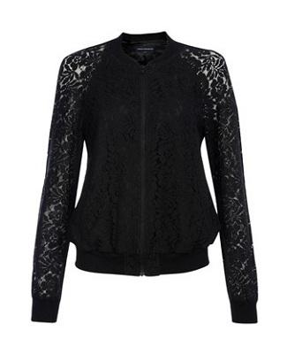 Isabella Lace Bomber Jacket, $69.99, frenchconnection.com