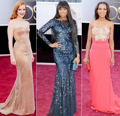 Oscars 2013: Jessica Chastain, Jennifer Hudson, Kerry Washington