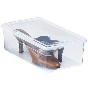 Shoe Box, $1.89, containerstore.com