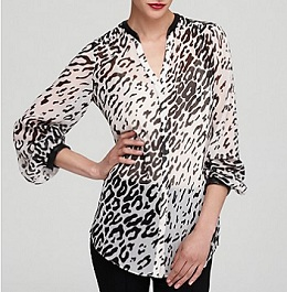 DKNYC V Neck Button Tunic, $57.85 (marked down from $89), bloomingdales.com