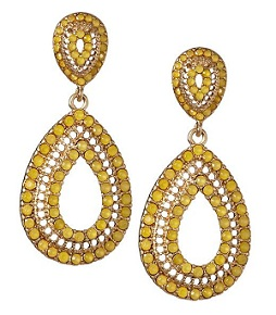 Sabine Pear Shaped Drop Earrings, $22, piperlime.com