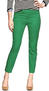 Slim Cropped Print Pants, $49.95, gap.com