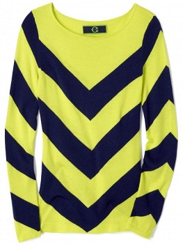 Chevron Intarsia Knit Sweater, $59.99 (marked down from $78), cwonder.com