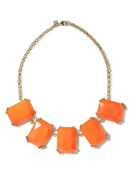 Sparkle Stone Necklace in Orange, $34.99 (originally $59.50), bananarepublic.com