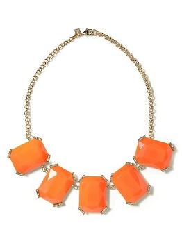 Sparkle Stone Necklace in Orange, $34.99 (originally $59.50), bananarepublic.com