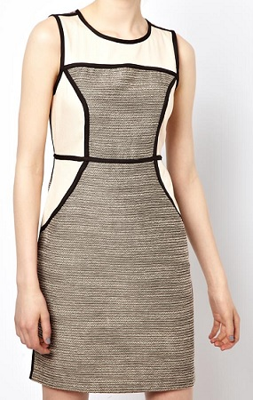 Vila Contrast Panel Dress, $47.65, asos.com