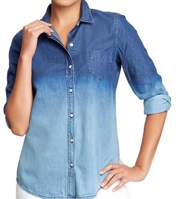 Women's Dip-Dye Chambray Shirt, $29.94, oldnavy.com