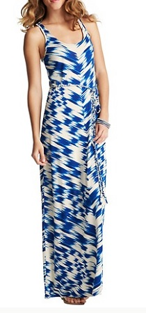 Ikat Print Racerback Maxi Dress, $53.70 (with 40% off sale), loft.com