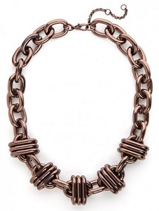 Chunky Bronze Strand Necklace, $20 (originally $26), baublebar.com