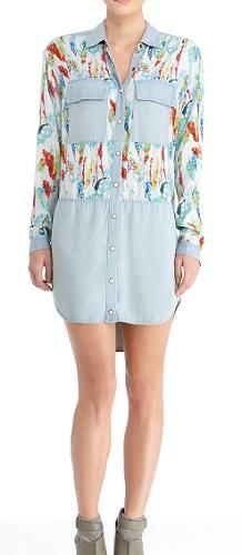 Mixed Media Shirt Dress, $79, rachelroy.com