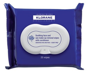 Klorane Soothing Eye and Face Makeup Removal Wipes, $11, bigelowchemists.com
