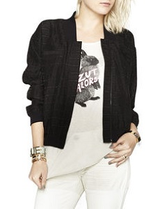 Jacquard Bomber Jacket, $82.32 (originally $117.60, bcbgeneration.com