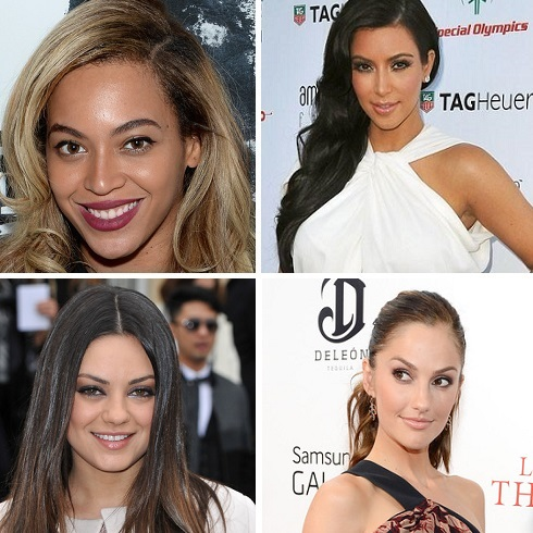 The most requested celebrity brows by Shobha clients include Beyonce, Kim Kardashian, Mila Kunis and Minka Kelly. (Photos: Zimbio.com)