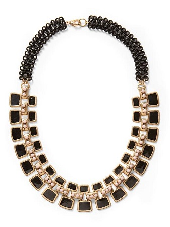 Pim + Larkin Black Art Deco Necklace, $48, piperlime.com