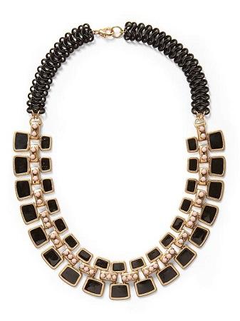 Pim + Larkin Black Art Deco Necklace, $48, piperlime.com